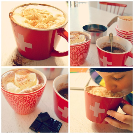 Drinking Hot Chocolate the Danish way....
