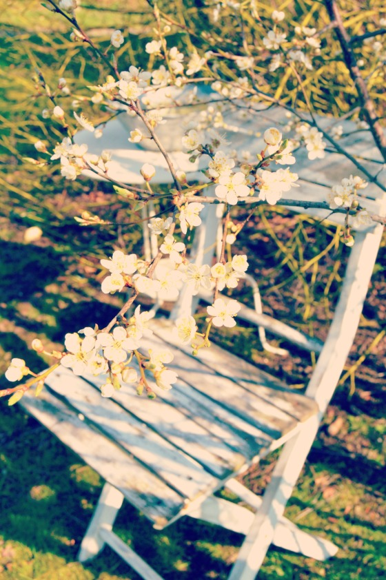 Distressed Chair with Spring