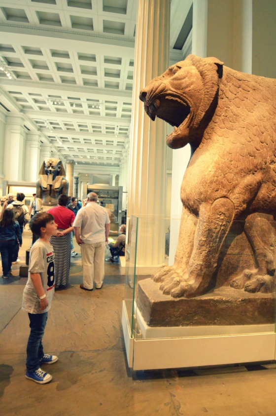DSC_0178 in awe of Nimrud's lion